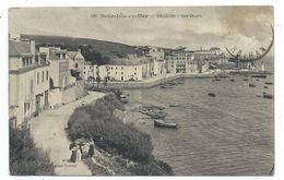 CPA - BELLE ISLE EN MER, SAUZON, LES QUAIS - Morbihan 56 - Animée - Circulé 1913 - Coll. Fernand Fechant - Belle Ile En Mer