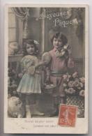ENFANTS Et JOLIS OEUFS De PÂQUES - 1911 -  Colorisée - Animée - Ostern