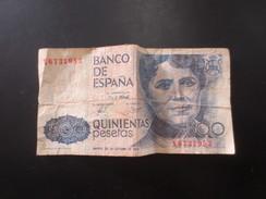 Billet 500 Pesetas - [ 5] Department Of Finance Issues