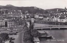 Luzern - Seebrücke, Kapellbrücke (375) * 18. 6. 1962 - LU Lucerne