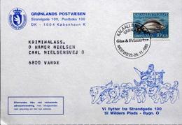 Greenland  1977 Cards Minr.162  With Special Stamp Glas Og Frimærker Næstved 1985   ( Lot 4469 ) - Cartas