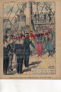 PROTEGE CAHIER- IMPRIMERIE DUCOURTIEUX LIMOGES- MAROC-4 E TIRAILLEURS ALGERIENS-ALGERIE DE TUNIS EMBARQUE A BIZERTE - Collections, Lots & Series