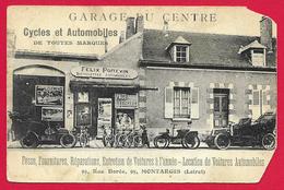 CPA Montargis - Garage Du Centre - Rue Dorée - Maison Félix Poitevin - Montargis