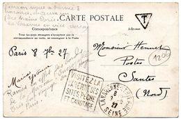 SEINE - Dépt N° 75 = LA VARENNE St HILAIRE 1927 = TAXE + FLAMME DAGUIN ' VISITEZ /SITES PECHE / CANOTAGE' - Lettres Taxées