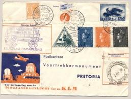 Nederland - 1938 - Dingaansvlucht Van Amsterdam Naar Pretoria / South Africa En Terug / And Back - Brieven En Documenten