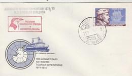 Lettre MS LINDBLAD Explorer President Eduardo Frei Station - Antarctica Chilena - Bateau - Timbres