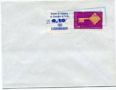 FRANCE TIMBRE DE GREVE DE SAINT-DIE N°12 SUR LETTRE AVEC OBLITERATION DE LA CHAMBRE DE COMMERCE DE ST DIE DU 28 MAI 1968 - Postmark Collection (Covers)
