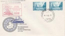 Lettre MS LINDBLAD Explorer Estacion Scientifica Almirante Brown Bahia Paraiso Antartida Argentina - Animaux - Timbres