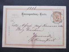 GANZSACHE Jägerndorf - Janowitz 1894 August Tepperwein  Korrespondenzkarte   /// D*29607 - 1850-1918 Imperium