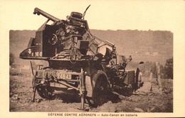MILITARIA - REGIMENT ARTILLERIE ANTI AERIENS - 404 D.C.A. TOURS - DEFENSE CONTRE AERONEFS - AUTO CANON EN BATTERIE - Materiale