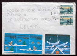 Greenland  1986  Letter To Denmark  From Nuuk   ( Lot 4469 ) - Cartas