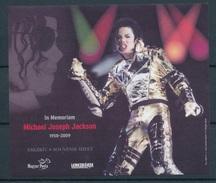 2009. In Memoriam Michael Joseph Jackson - Commemorative Sheet - Feuillets Souvenir