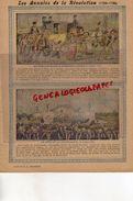PROTEGE CAHIER- LES ANNALES DE LA REVOLUTION-1789-1799- FAMILLE ROYALE RAMENEE A PARIS-FETE  FEDERATION -CHARIER SAUMUR - Blotters