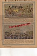 PROTEGE CAHIER- LES ANNALES DE LA REVOLUTION-1789-1799- FAMILLE ROYALE RAMENEE A PARIS-FETE  FEDERATION -CHARIER SAUMUR - Buvards, Protège-cahiers Illustrés