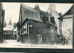 CPA - PONTIVY - Rue De L'Ancien Pont - Curieuse Maison Du XVè Siècle, Animé - Pontivy