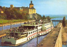 Austria. The  Schleus Ybbs-Persenbeug  &  `Theodor Korner` Ship. - Sailing Vessels