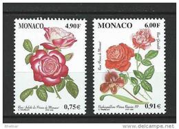 """Monaco YT 2194 & 2195 """" Roses Et Orchidées """" 1999 Neuf** - Monaco"""