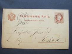 GANZSACHE Neustraschitz Nove Straseci - Rostoky U Prahy   Korrespondenzkarte   /// D*29617 - 1850-1918 Imperium