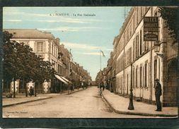CPA - PONTIVY - La Rue Nationale, Animé - Pontivy
