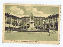 ASTI - PIAZZA E MONUMENTO VITTORIO ALFIERI - EDIZ. S.A.F. - 1949 ( 1470 ) - Asti