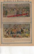 PROTEGE CAHIER- LES ANNALES DE LA REVOLUTION-1789-1799- ENROLEMENTS VOLONTAIRES-JOURNEE DU 10 AOUT 1792 -CHARIER SAUMUR - Buvards, Protège-cahiers Illustrés