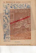 PROTEGE CAHIER-IMPRIMERIE DUCOURTIEUX LIMOGES- MAITRESSE DE MAISON-MENAGE CUISINE-ECLAIRAGE -CUISINE-CHARIER SAUMUR - Buvards, Protège-cahiers Illustrés