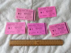 Tickets Menagerie Cirque Pinder Jean Richard - Biglietti D'ingresso