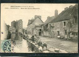 CPA - PONTIVY - Rue Des Vieux Moulins, Très Animé - Lavandières - Pontivy