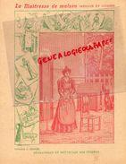 PROTEGE CAHIER-IMPRIMERIE DUCOURTIEUX LIMOGES- MAITRESSE DE MAISON-MENAGE CUISINE-DEGRAISSAGE NETTOYAGE -CHARIER SAUMUR - Collections, Lots & Séries