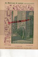 PROTEGE CAHIER-IMPRIMERIE DUCOURTIEUX LIMOGES- MAITRESSE DE MAISON-GARDE ROBE- -CHARIER SAUMUR - Collections, Lots & Series