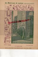 PROTEGE CAHIER-IMPRIMERIE DUCOURTIEUX LIMOGES- MAITRESSE DE MAISON-GARDE ROBE- -CHARIER SAUMUR - Buvards, Protège-cahiers Illustrés