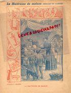 PROTEGE CAHIER-IMPRIMERIE DUCOURTIEUX LIMOGES- MAITRESSE DE MAISON-MAITRESSE DE MAISON -CHARIER SAUMUR - Buvards, Protège-cahiers Illustrés