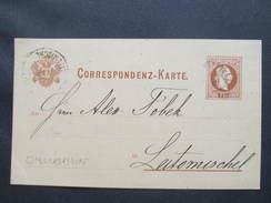GANZSACHE Markersdorf - Litomysl 1882 Korrespondenzkarte   /// D*29622 - Briefe U. Dokumente