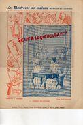 PROTEGE CAHIER-IMPRIMERIE DUCOURTIEUX LIMOGES- MAITRESSE DE MAISON-FEMME ECONOME-ECONOMIE -CHARIER SAUMUR - Collections, Lots & Series