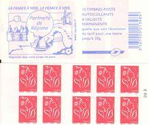 FRANCE - BOOKLET / CARNET, Yvert 3744b-c4 - 2006 - Marianne Des Français, 10x TVP Red - Carnets