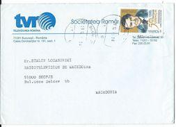 Romania Letter Via Macedonia.UNHCR Motive - Covers & Documents
