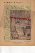 PROTEGE CAHIER-IMPRIMERIE DUCOURTIEUX LIMOGES- MAITRESSE DE MAISON-CABINET DE TOILETTE BAIGNOIRE LAVABO -CHARIER SAUMUR - Buvards, Protège-cahiers Illustrés