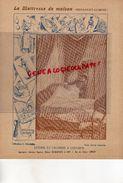 PROTEGE CAHIER-IMPRIMERIE DUCOURTIEUX LIMOGES- MAITRESSE DE MAISON-LITERIE CHAMBRE A COUCHER -CUISINE-CHARIER SAUMUR - Collections, Lots & Séries