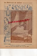 PROTEGE CAHIER-IMPRIMERIE DUCOURTIEUX LIMOGES- MAITRESSE DE MAISON-LITERIE CHAMBRE A COUCHER -CUISINE-CHARIER SAUMUR - Buvards, Protège-cahiers Illustrés