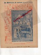 PROTEGE CAHIER-IMPRIMERIE DUCOURTIEUX LIMOGES- MAITRESSE DE MAISON-ENTRETIEN DU MOBILIER-CUISINE -CHARIER SAUMUR - Collections, Lots & Series