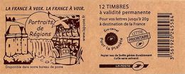 FRANCE - BOOKLET / CARNET, Yvert 3744b-c6 - 2007 - Marianne Des Français, 12x TVP Red - Libretti