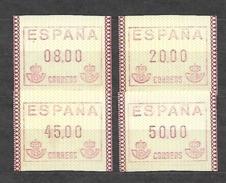 ESPAÑA ATM FRAMA 1989 SERIE COMPLETA NUEVA SIN CHARNELA. MNH**. - Marcofilia - EMA ( Maquina De Huellas A Franquear)
