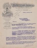 38 2718 VOIRON ISERE 1907 Pharmacie N. PERROT - BERTON Pharmacien Grande Rue L ANTESITE Extrait A GRANDJEAN - 1900 – 1949
