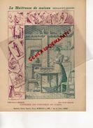 PROTEGE CAHIER-IMPRIMERIE DUCOURTIEUX LIMOGES-MAITRESSE DE MAISON-ENTRETIEN USTENSILES DE CUISINE -CHARIER SAUMUR - Buvards, Protège-cahiers Illustrés