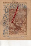 PROTEGE CAHIER-IMPRIMERIE DUCOURTIEUX LIMOGES-MAITRESSE DE MAISON--ARMOIRE A LINGE-RACCOMODAGE-CUISINE -CHARIER SAUMUR - Carte Assorbenti