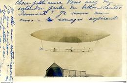 CPA 1901 AYANT VOYAGEE LE SANTOS DUMONT N°6 QUITTANT LE HANGAR  REF950 - Luchtschepen