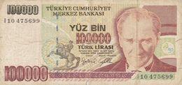 100 000 Lira Turquie 1970 - Turchia