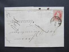 BRIEF Haczfeld Hatzfeld Jimbolia - Temesvar 1869 /// D*29639 - Covers & Documents