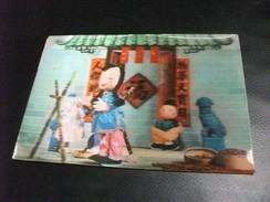 CINA CHINA ? GIAPPONE ? SCENA 3 D - Cartoline