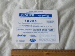 Invitation Au Cirque Pinder Jean Richard Tours Le 22 Janvier 1999 - Biglietti D'ingresso